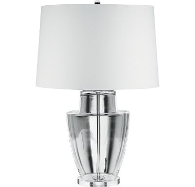 Accessories - Petra - Clear Glass Ginger Jar Table Lamp