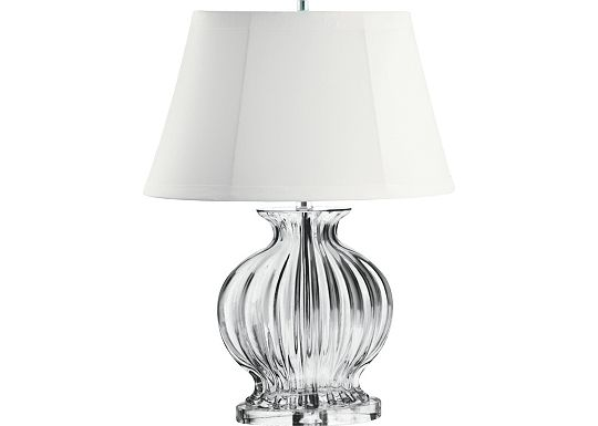 Accessories - Madeline - Fluted Oval Glass Urn Table Lamp