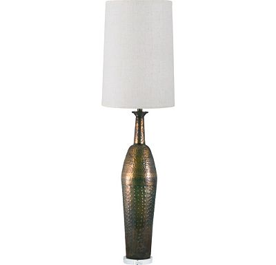 Accessories - Ian - Rustic Copper Bomb Shell Table Lamp