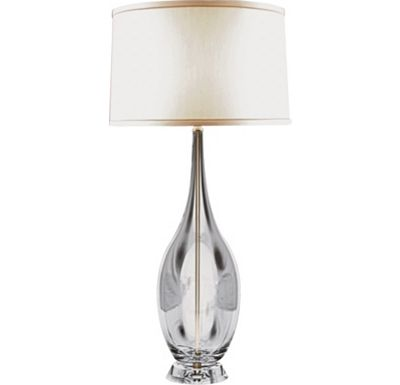 Accessories - Cassandra - Clear Glass Urn Table Lamp