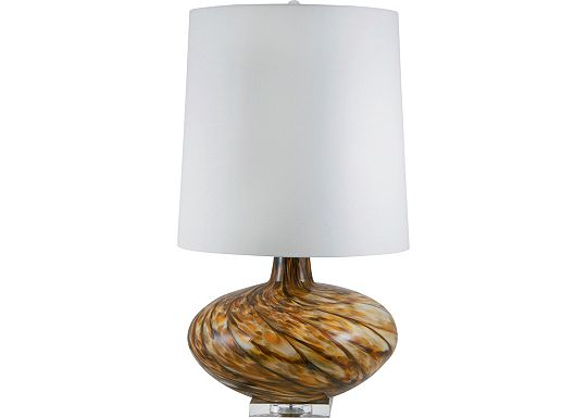 Accessories - Reneda - Amber Swirl Glass Table Lamp