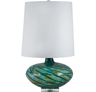 Accessories - Reneda - Blue Swirl Glass Table Lamp