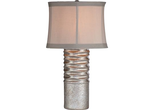 Accessories - Barretta - Silver Wave Table Lamp
