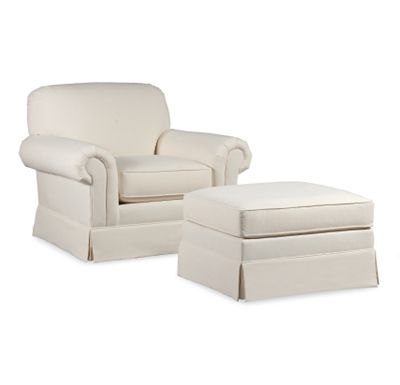 Lancaster Chair and Ottoman (1010-02)