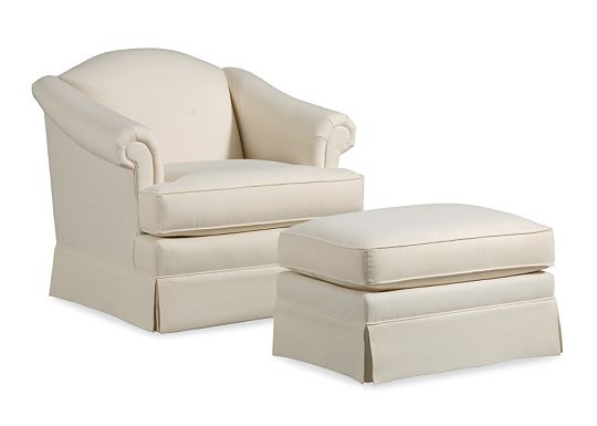Maribel Chair and Ottoman (1010-02)