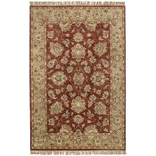 Gallery - Burgundy/Pale Green/Tan Rug - 5'x8'