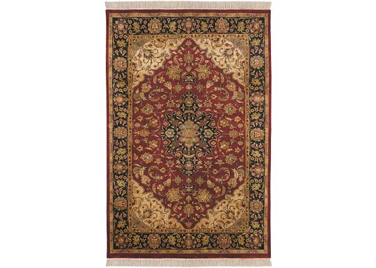 Accessories - Hand-Knotted Rug (Bijou-Red Medallion)
