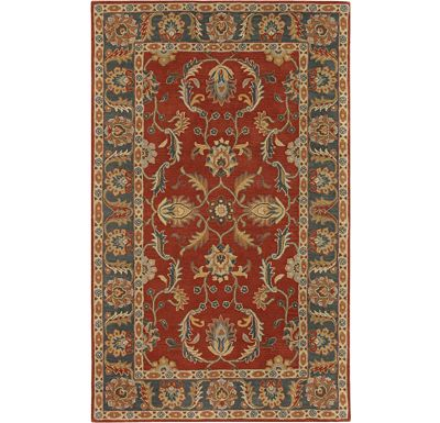 Accessories - Raven - Rust Red/Kerry Blue Hand-Tufted Rug