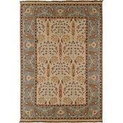 Melita - Off White/Brown/Silver Sage Rug - 6'x9'