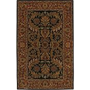 Camden - Black/Brick Red Rug - 5'x8'
