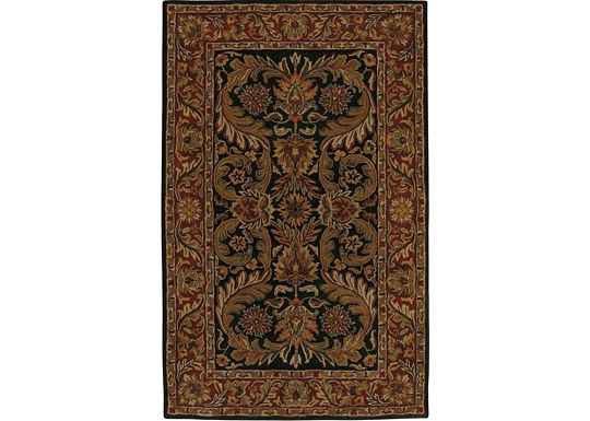 Accessories - Camden - Black/Brick Red Rug