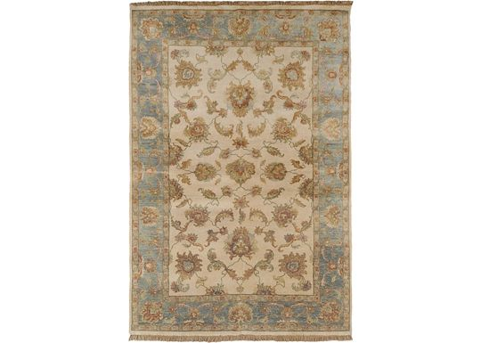 Accessories - Lincoln - Off White/Blue/Rust Rug