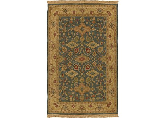 Accessories - Easton - Blue/Beige/Red Burgundy Rug