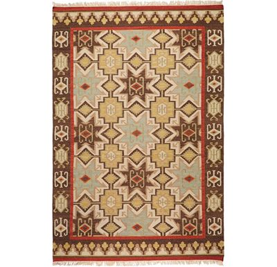 Accessories - Treasure Hunt Rug - Chocolate/Beige/Tan