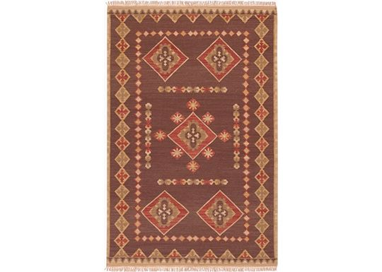 Accessories - Durango Rug - Brown/Tan/Coral