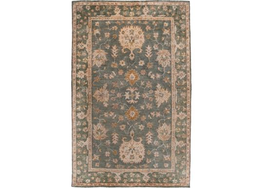 Accessories - Lennox - Green Blue/Cream/Gold Rug - 5'x8'