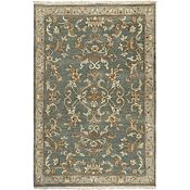Clarissa - Gray/Gold/Raw Umber/Green Rug-5'6