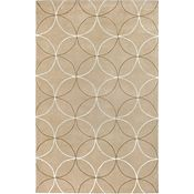 Reflections - Tan/Beige/Ivory Rug - 5'x8'