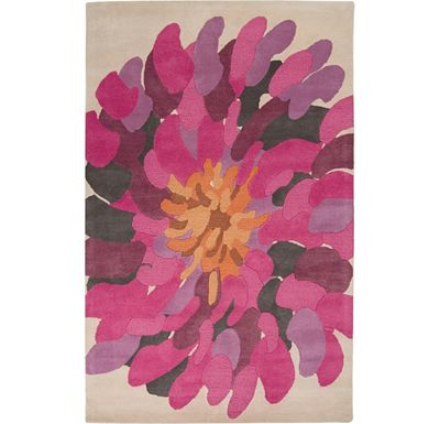 Accessories - Pinwheel - Ivory/Fuschia/Raspberry Rug - 5'x8'