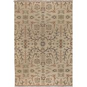 Melita - Cream/Multi Hand Knotted Rug - 6'x9'