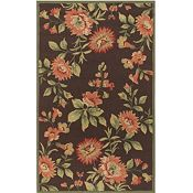 Ari - Chocolate/Burgundy/Coral Rug - 5'x8'