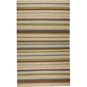 Freestyle Rug - Brick/Blue/Pale Blue - 5'x8'