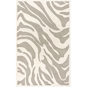 Alba - White/Light Gray/Silver Rug - 5'x8'