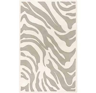 Accessories - Alba Rug - White/Light Gray/Silver