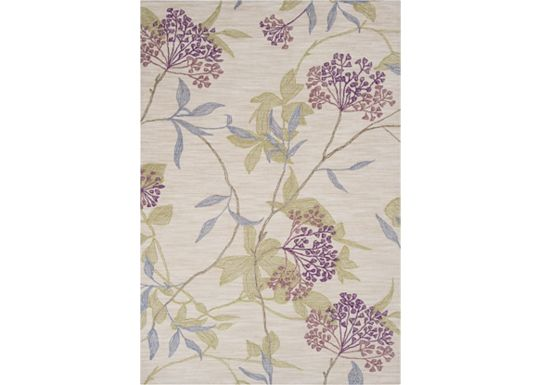 Accessories - Southpark - Ivory/Green/Plum Rug - 5'x7'6