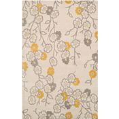 Groundworks - Ivory/Gray/Yellow Rug - 5'x8'