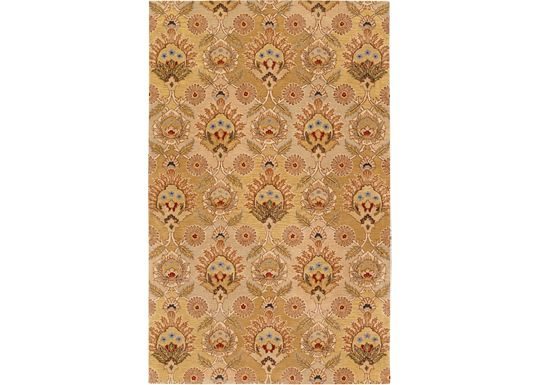 Accessories - Camden - Gold/Beige/Sage Gray Rug - 5'x8'