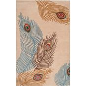 Tamsin - Teal Green/Golden Brown/Red Rug - 5'x8'