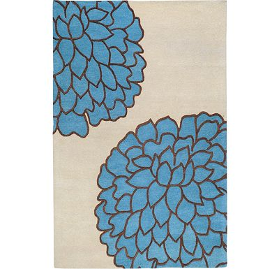 Accessories - Ronna - Pacific Blue/Bone/Brown Rug