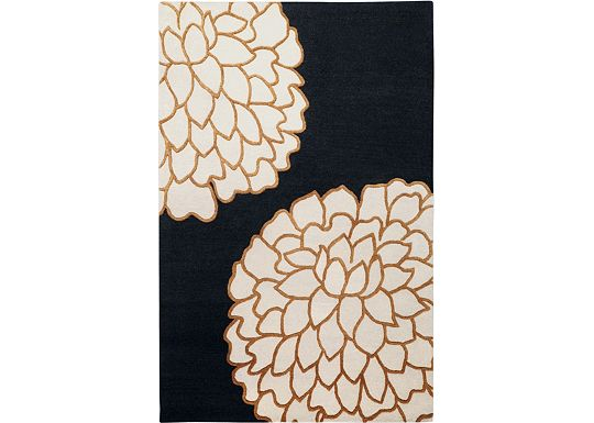 Accessories - Ronna - Golden Brown/Bone/Black Rug