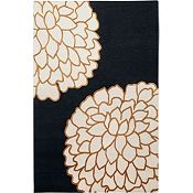 Ronna - Golden Brown/Bone/Black Rug - 5'x8'
