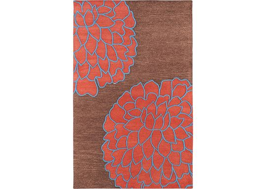 Accessories - Ronna - Terra Cotta/Red/Blue/Sepia Rug