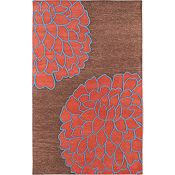 Ronna - Terra Cotta/Red/Blue/Sepia Rug - 5'x8'
