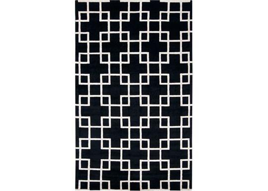 Deco - White/Caviar Rug