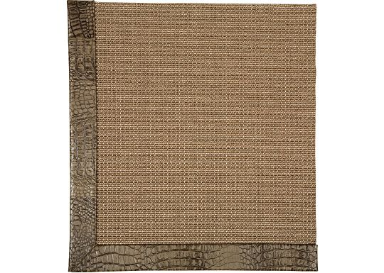 Accessories - Jumbo Sisal Rug (Embossed Leather)