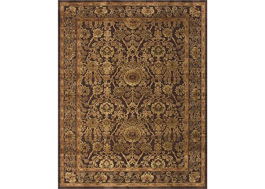 Accessories - Stevenson - Dark Chocolate/Gold Rug