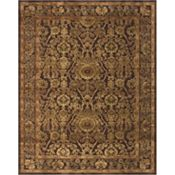 Stevenson - Dark Chocolate/Gold Rug - 5'3