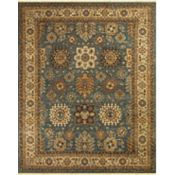 Woodlands - Medium Blue/Ivory Rug - 5'6