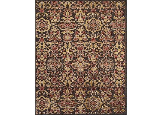 Accessories - Sheffield - Dark Chocolate/Multi Rug