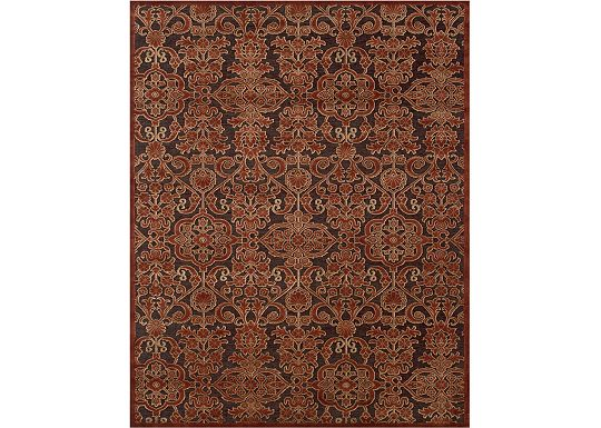 Accessories - Sheffield - Dark Chocolate/Rust Rug