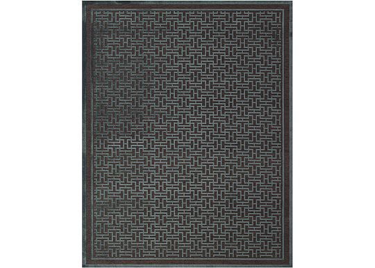 Accessories - Braxton - Dark Chocolate/Teal Rug