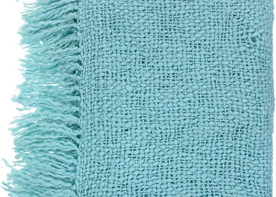 Accessories - Devon Throw - Spa Blue