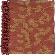 Satara Throw - Red/Camel