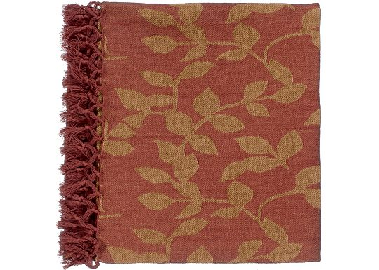 Accessories - Satara Throw - Red/Camel