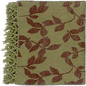Satara Throw - Green/Brown