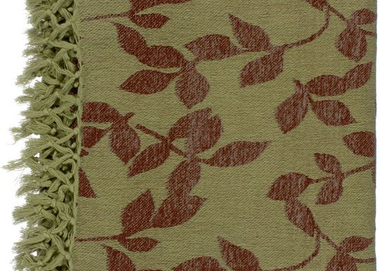 Accessories - Satara Throw - Green/Brown